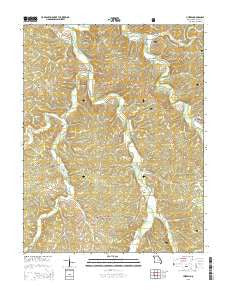 Huzzah Missouri Current topographic map, 1:24000 scale, 7.5 X 7.5 Minute, Year 2015