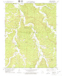 Huzzah Missouri Historical topographic map, 1:24000 scale, 7.5 X 7.5 Minute, Year 1978