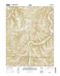 Iberia Missouri Current topographic map, 1:24000 scale, 7.5 X 7.5 Minute, Year 2015