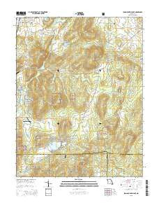 Iron Mountain Lake Missouri Current topographic map, 1:24000 scale, 7.5 X 7.5 Minute, Year 2015