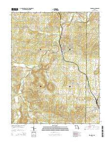 Irondale Missouri Current topographic map, 1:24000 scale, 7.5 X 7.5 Minute, Year 2015