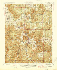 Ironton Missouri Historical topographic map, 1:62500 scale, 15 X 15 Minute, Year 1946