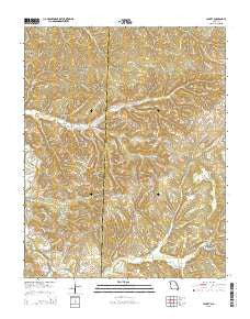 Jacket Missouri Current topographic map, 1:24000 scale, 7.5 X 7.5 Minute, Year 2015