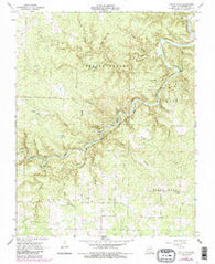 Jam Up Cave Missouri Historical topographic map, 1:24000 scale, 7.5 X 7.5 Minute, Year 1968