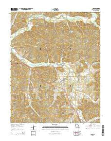 Jane Missouri Current topographic map, 1:24000 scale, 7.5 X 7.5 Minute, Year 2015