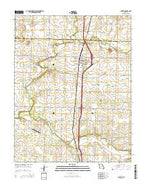 Jasper Missouri Current topographic map, 1:24000 scale, 7.5 X 7.5 Minute, Year 2015 from Missouri Map Store