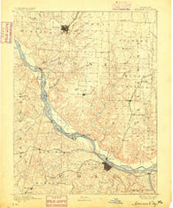 Jefferson City Missouri Historical topographic map, 1:125000 scale, 30 X 30 Minute, Year 1886