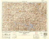 Jefferson City Missouri Historical topographic map, 1:250000 scale, 1 X 2 Degree, Year 1954