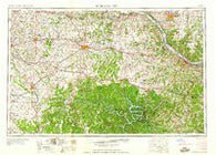Jefferson City Missouri Historical topographic map, 1:250000 scale, 1 X 2 Degree, Year 1959