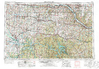 Jefferson City Missouri Historical topographic map, 1:250000 scale, 1 X 2 Degree, Year 1955