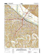 Jefferson City Missouri Current topographic map, 1:24000 scale, 7.5 X 7.5 Minute, Year 2015 from Missouri Map Store