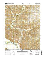 Jefferson City NW Missouri Current topographic map, 1:24000 scale, 7.5 X 7.5 Minute, Year 2015 from Missouri Map Store
