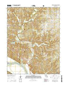 Jefferson City NW Missouri Current topographic map, 1:24000 scale, 7.5 X 7.5 Minute, Year 2015