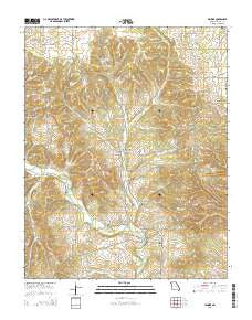 Jenkins Missouri Current topographic map, 1:24000 scale, 7.5 X 7.5 Minute, Year 2015