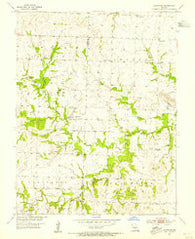 Johnstown Missouri Historical topographic map, 1:24000 scale, 7.5 X 7.5 Minute, Year 1953