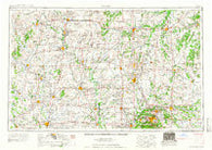 Joplin Missouri Historical topographic map, 1:250000 scale, 1 X 2 Degree, Year 1959