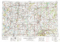 Joplin Missouri Historical topographic map, 1:250000 scale, 1 X 2 Degree, Year 1954