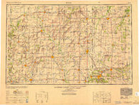 Joplin Missouri Historical topographic map, 1:250000 scale, 1 X 2 Degree, Year 1949