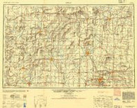 Joplin Missouri Historical topographic map, 1:250000 scale, 1 X 2 Degree, Year 1947