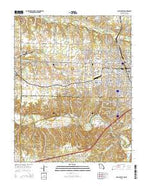 Joplin West Missouri Current topographic map, 1:24000 scale, 7.5 X 7.5 Minute, Year 2015 from Missouri Map Store