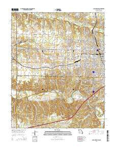 Joplin West Missouri Current topographic map, 1:24000 scale, 7.5 X 7.5 Minute, Year 2015