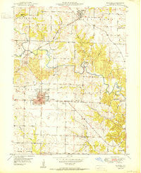 Kahoka Missouri Historical topographic map, 1:24000 scale, 7.5 X 7.5 Minute, Year 1950