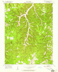 Kaintuck Hollow Missouri Historical topographic map, 1:24000 scale, 7.5 X 7.5 Minute, Year 1950