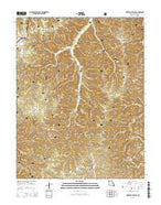 Kaintuck Hollow Missouri Current topographic map, 1:24000 scale, 7.5 X 7.5 Minute, Year 2015 from Missouri Map Store
