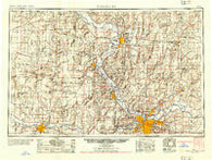 Kansas City Missouri Historical topographic map, 1:250000 scale, 1 X 2 Degree, Year 1954