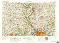 Kansas City Missouri Historical topographic map, 1:250000 scale, 1 X 2 Degree, Year 1960