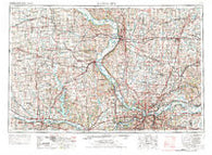 Kansas City Missouri Historical topographic map, 1:250000 scale, 1 X 2 Degree, Year 1956