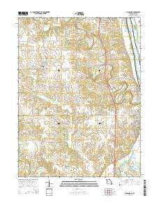 La Grange Missouri Current topographic map, 1:24000 scale, 7.5 X 7.5 Minute, Year 2015