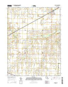 Laddonia Missouri Current topographic map, 1:24000 scale, 7.5 X 7.5 Minute, Year 2015