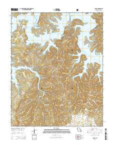 Lampe Missouri Current topographic map, 1:24000 scale, 7.5 X 7.5 Minute, Year 2015