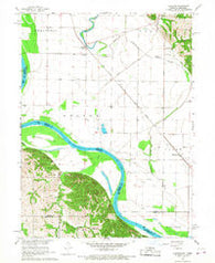 Langdon Missouri Historical topographic map, 1:24000 scale, 7.5 X 7.5 Minute, Year 1966