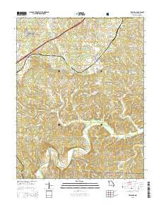 Leasburg Missouri Current topographic map, 1:24000 scale, 7.5 X 7.5 Minute, Year 2015
