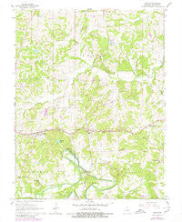 Leslie Missouri Historical topographic map, 1:24000 scale, 7.5 X 7.5 Minute, Year 1966