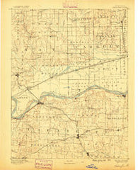 Lexington Missouri Historical topographic map, 1:125000 scale, 30 X 30 Minute, Year 1889