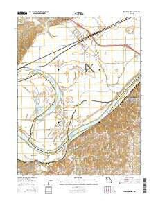 Lexington West Missouri Current topographic map, 1:24000 scale, 7.5 X 7.5 Minute, Year 2015