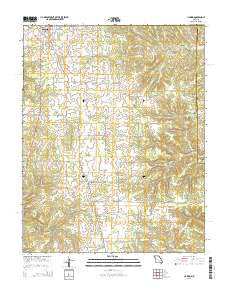 Licking Missouri Current topographic map, 1:24000 scale, 7.5 X 7.5 Minute, Year 2015