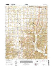 Lincoln Missouri Current topographic map, 1:24000 scale, 7.5 X 7.5 Minute, Year 2014 from Missouri Maps Store