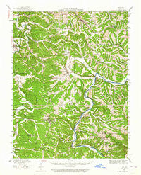 Linn Missouri Historical topographic map, 1:62500 scale, 15 X 15 Minute, Year 1942