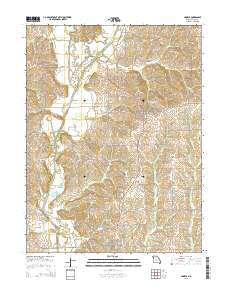 Linneus Missouri Current topographic map, 1:24000 scale, 7.5 X 7.5 Minute, Year 2015