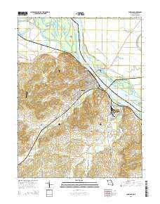 Louisiana Missouri Current topographic map, 1:24000 scale, 7.5 X 7.5 Minute, Year 2015