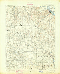 Louisiana Missouri Historical topographic map, 1:125000 scale, 30 X 30 Minute, Year 1890