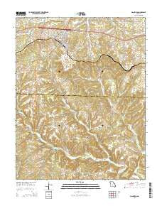 Mansfield Missouri Current topographic map, 1:24000 scale, 7.5 X 7.5 Minute, Year 2015
