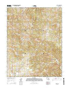 Maples Missouri Current topographic map, 1:24000 scale, 7.5 X 7.5 Minute, Year 2015