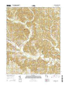 Marble Hill Missouri Current topographic map, 1:24000 scale, 7.5 X 7.5 Minute, Year 2015