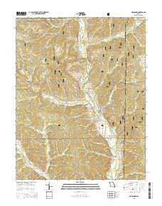 Marquand Missouri Current topographic map, 1:24000 scale, 7.5 X 7.5 Minute, Year 2015