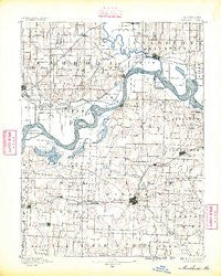 Marshall Missouri Historical topographic map, 1:125000 scale, 30 X 30 Minute, Year 1890